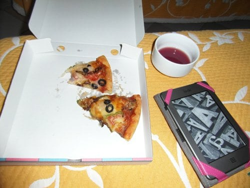 Mmmm, leftover pizza and Sangria, yum!