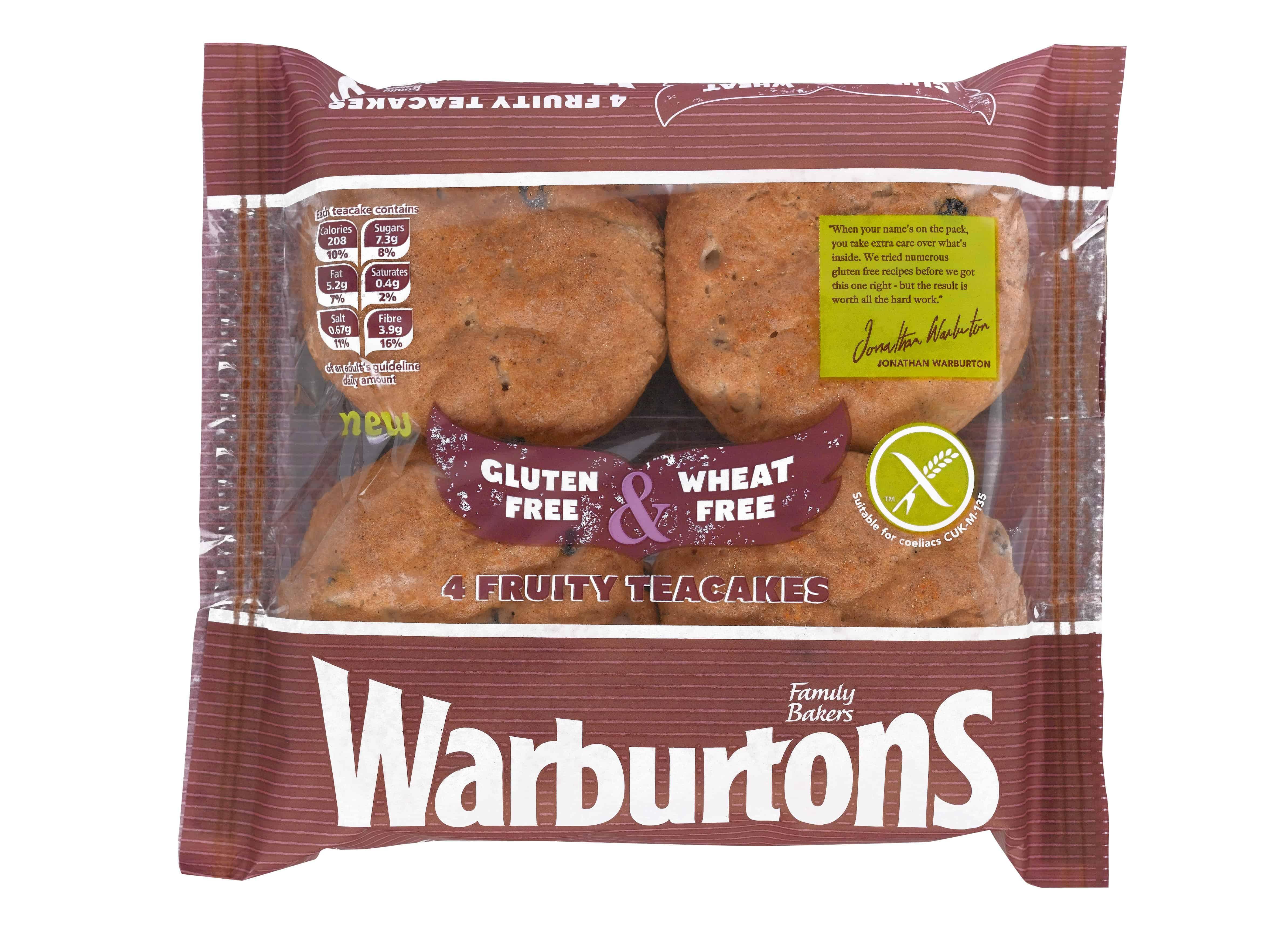 Warburtons Gluten Free Tea Cakes