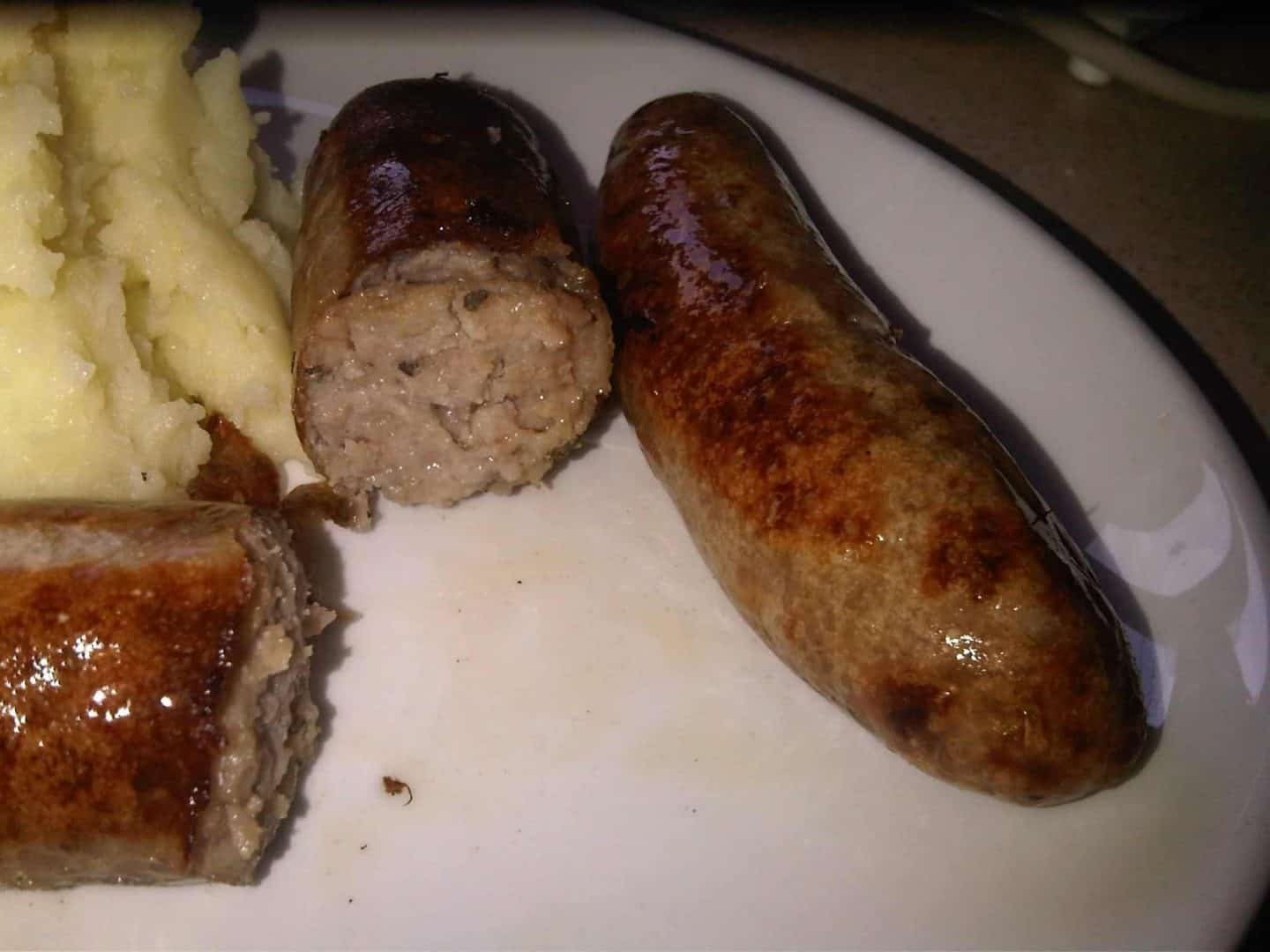 GF Sausages from a Bournemouth butcher