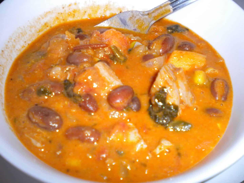 An African bean palava