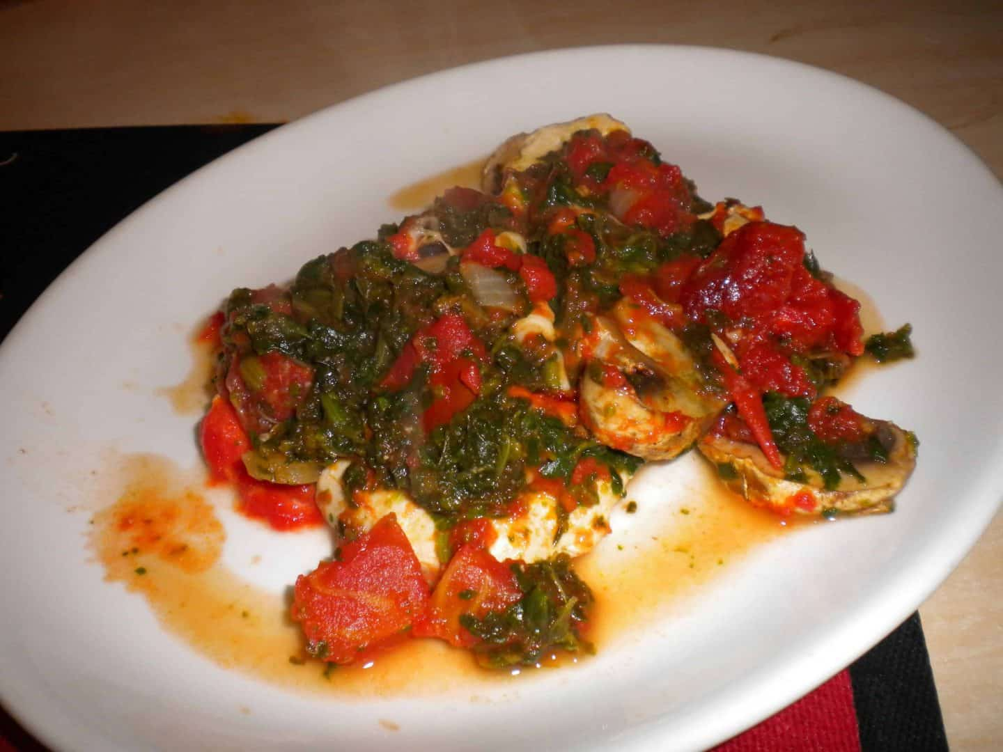 Tomato and Spinach Chicken Bake