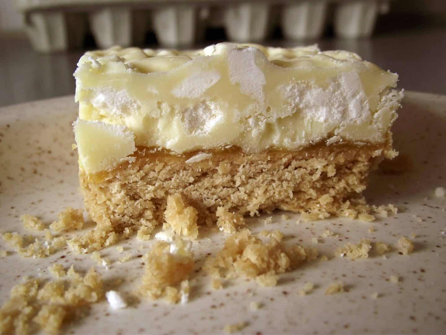 A tangy treat: gluten free lemon meringue shortbread