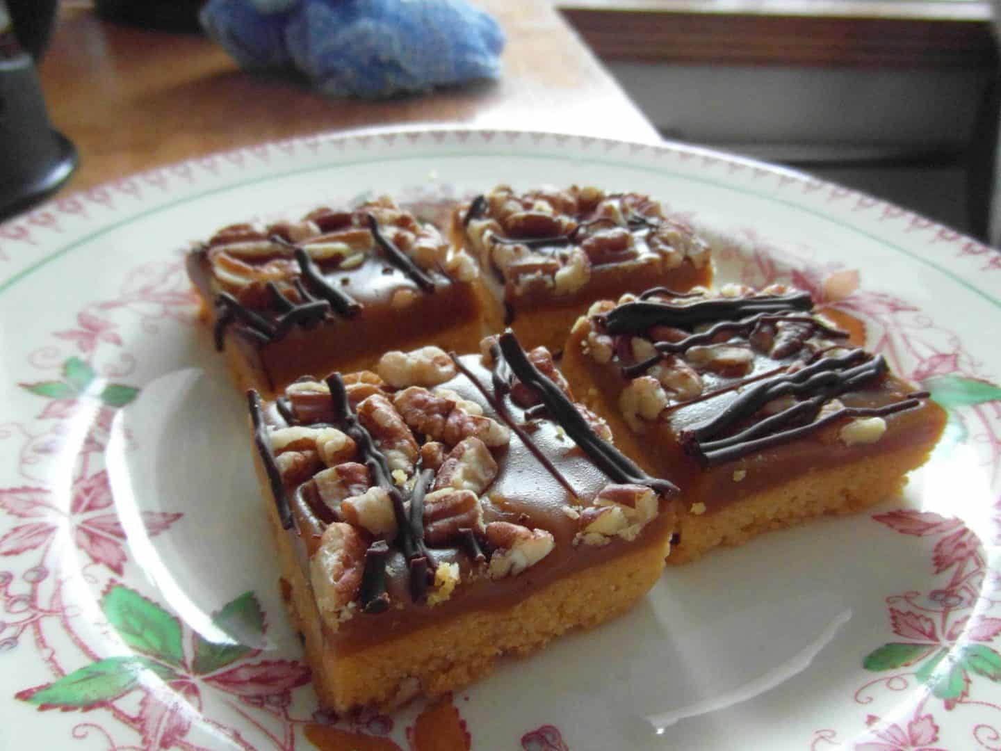 M&S Caramel Pecan Crunch Squares…..just heavenly!
