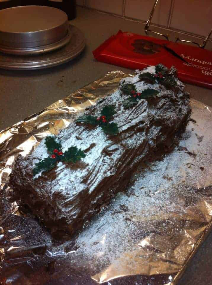 Merry Christmas! Gluten free Yule log making on Christmas Eve