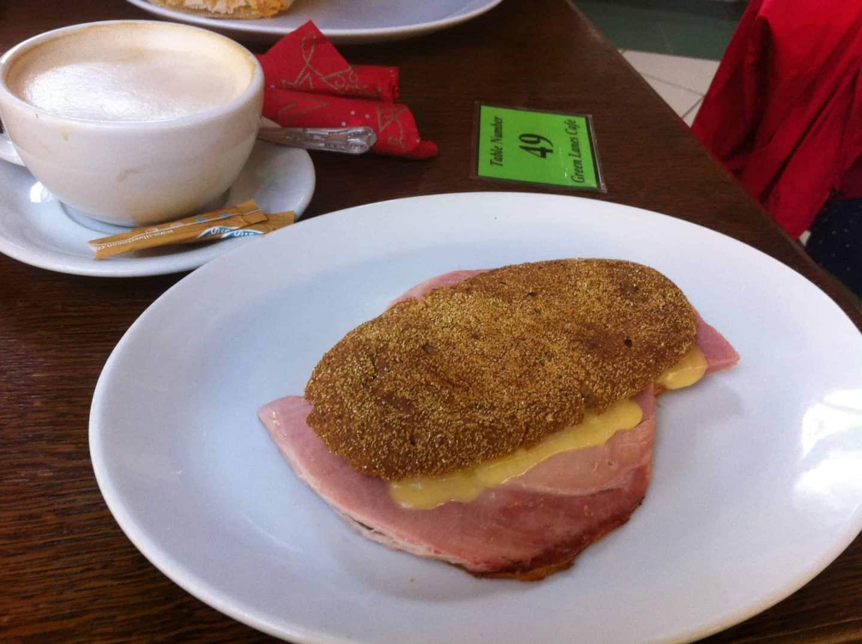 Gluten free paninis at Green Lanes Cafe, Barnstaple