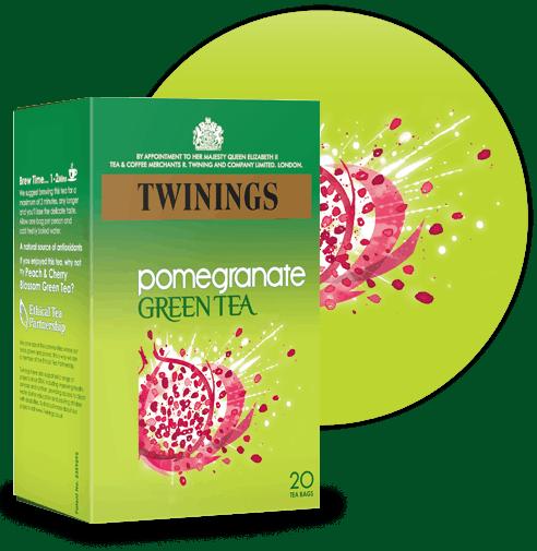 green tea pomegranate