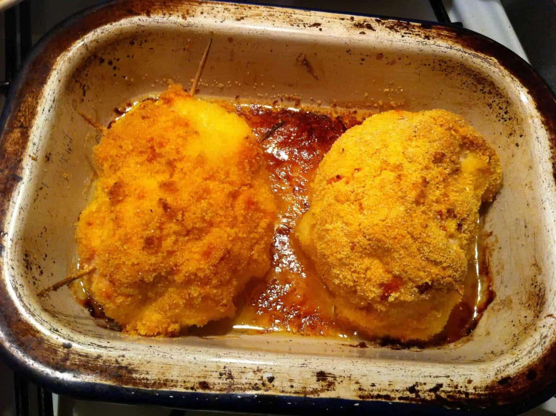 Recipe: Gluten free polenta coated chicken kievs
