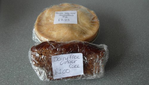 Gluten free pie and gluten free, dairy free cake from Kaff's Kitchen
