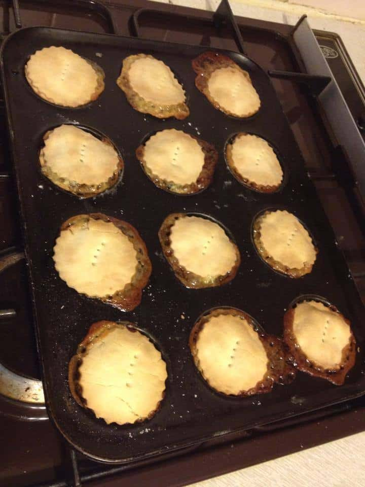 Exploding mince pies - have learnt my lesson on overfilling them!