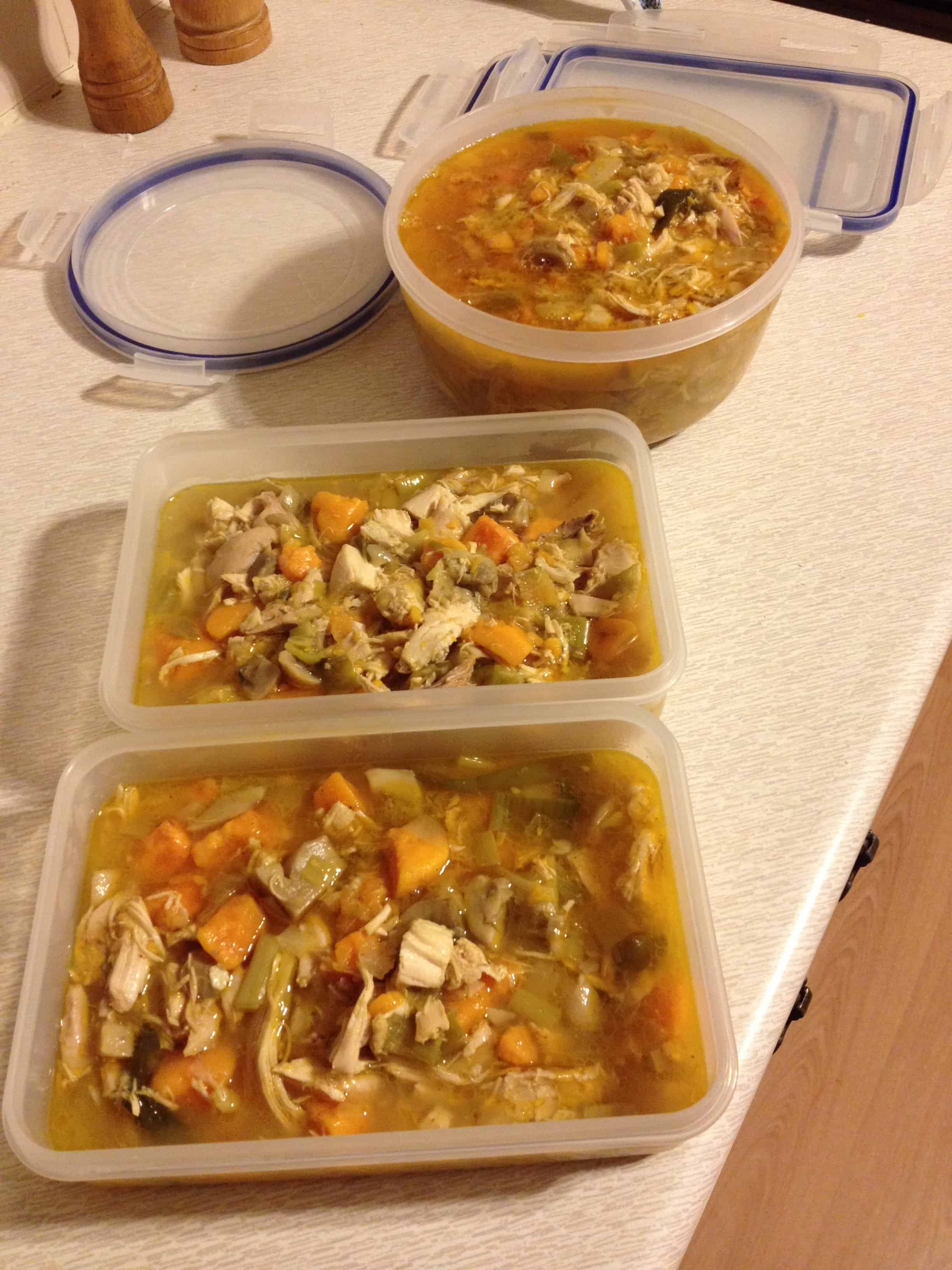 You can portion up the soup and freeze or fridge it!
