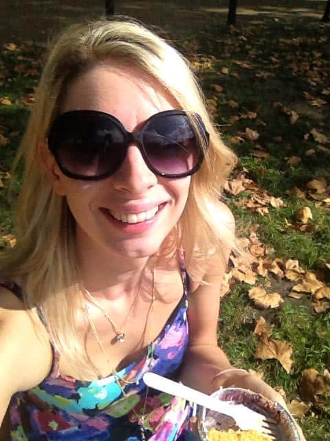 Having a gluten free picnic in Hyde Park during the last warm day!