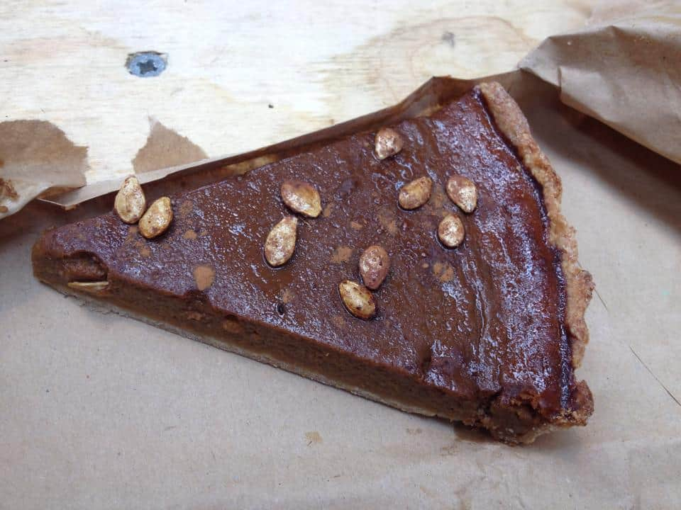 Gluten free pumpkin pie from Jake's Bakes at the Barnstaple Real Food Market.