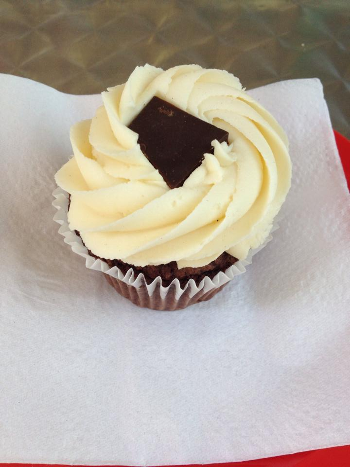 My beautiful little chocolate and vanilla cupcake from Ms Cupcake in Brixton.