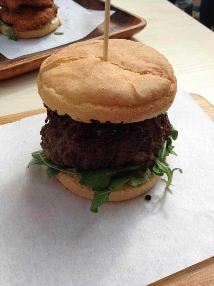 My gluten free venison burger from Vozars in Brixton.