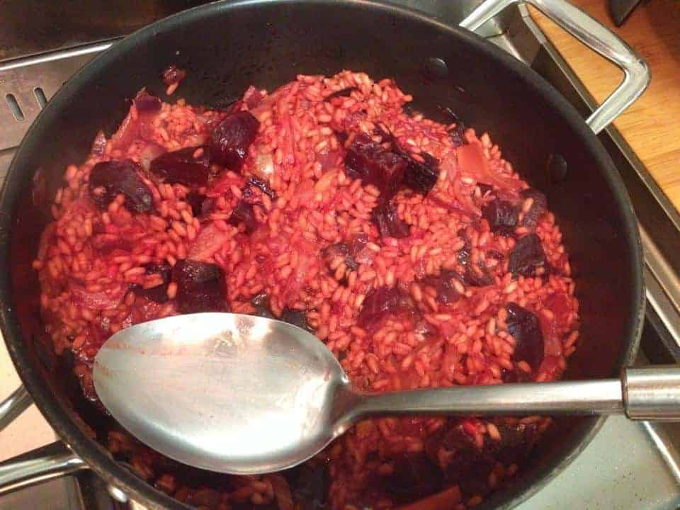 Gluten free garlic roasted beetroot and caramelised fennel risotto recipe