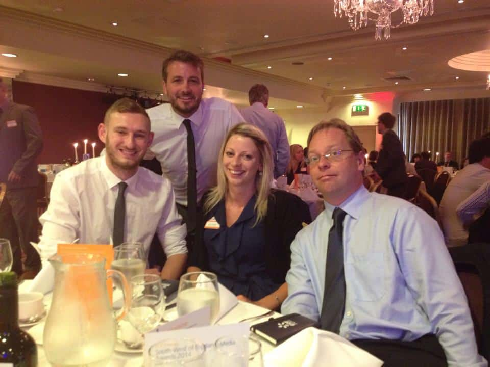 The  dream team at one of our awards ceremonies!