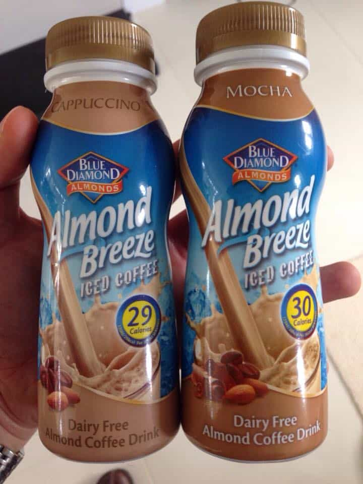 Almond breeze cold coffees are a great, dairy free alternative.