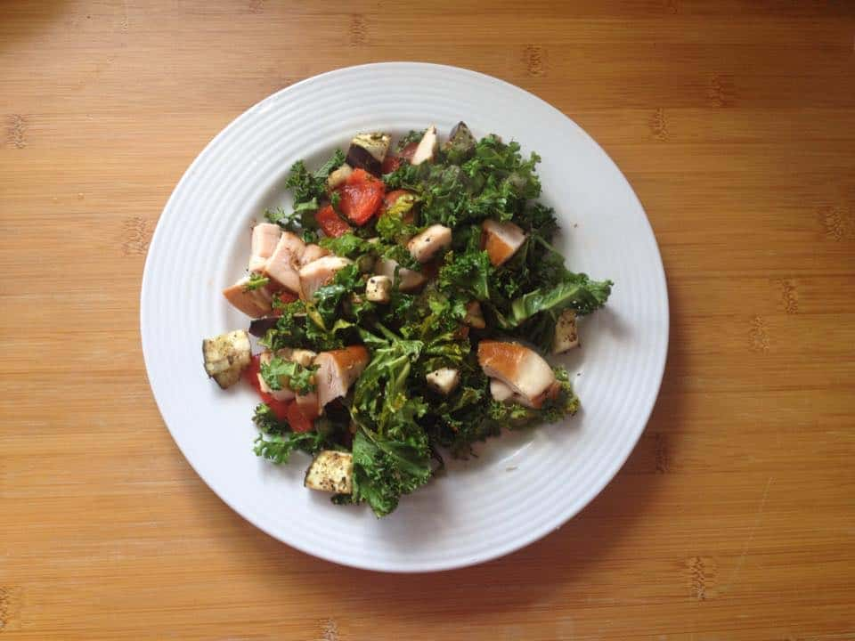 gluten free kale smoked chicken hot salad (1)