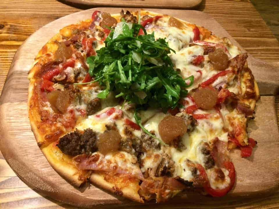 Gluten free pizzas at Pig on the Hill, Westward Ho!