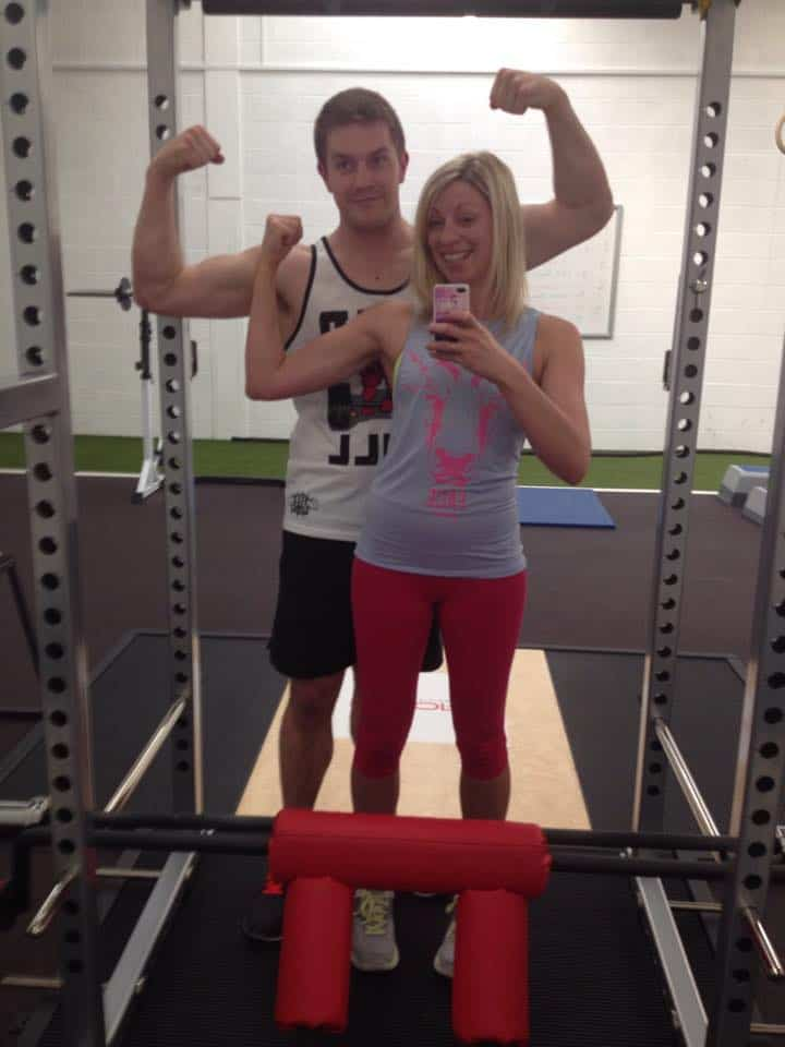 Getting a cheeky guns session in with Steve!