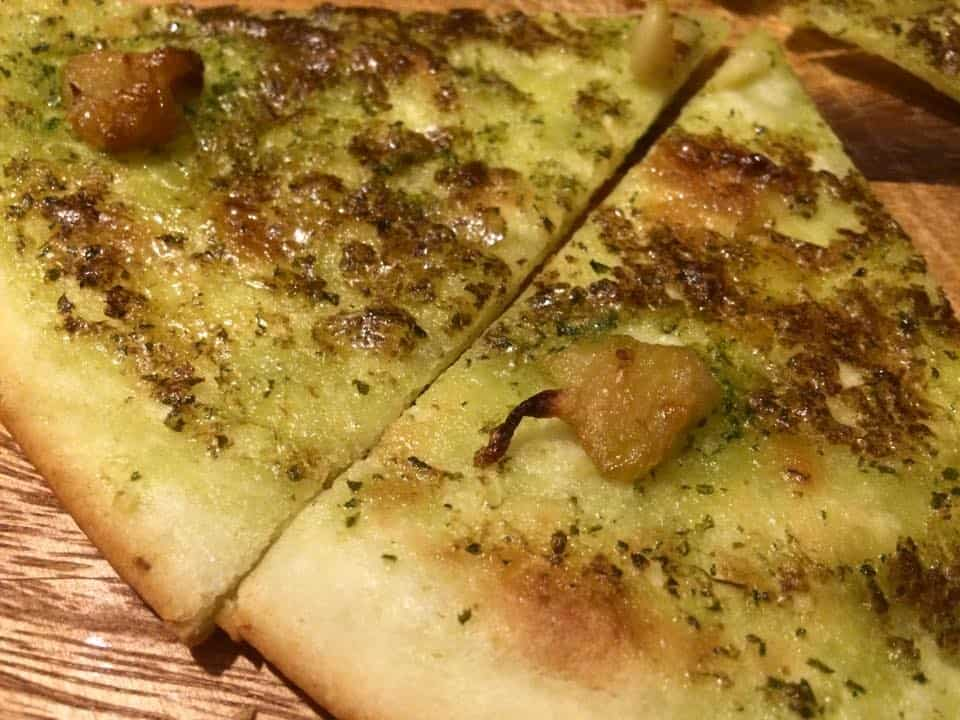Delicious gluten free garlic pizza bread!