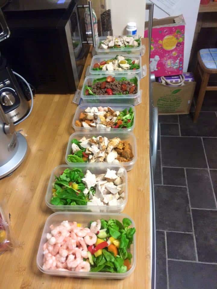 Food prep: Not an uncommon sight in my kitchen at the moment!