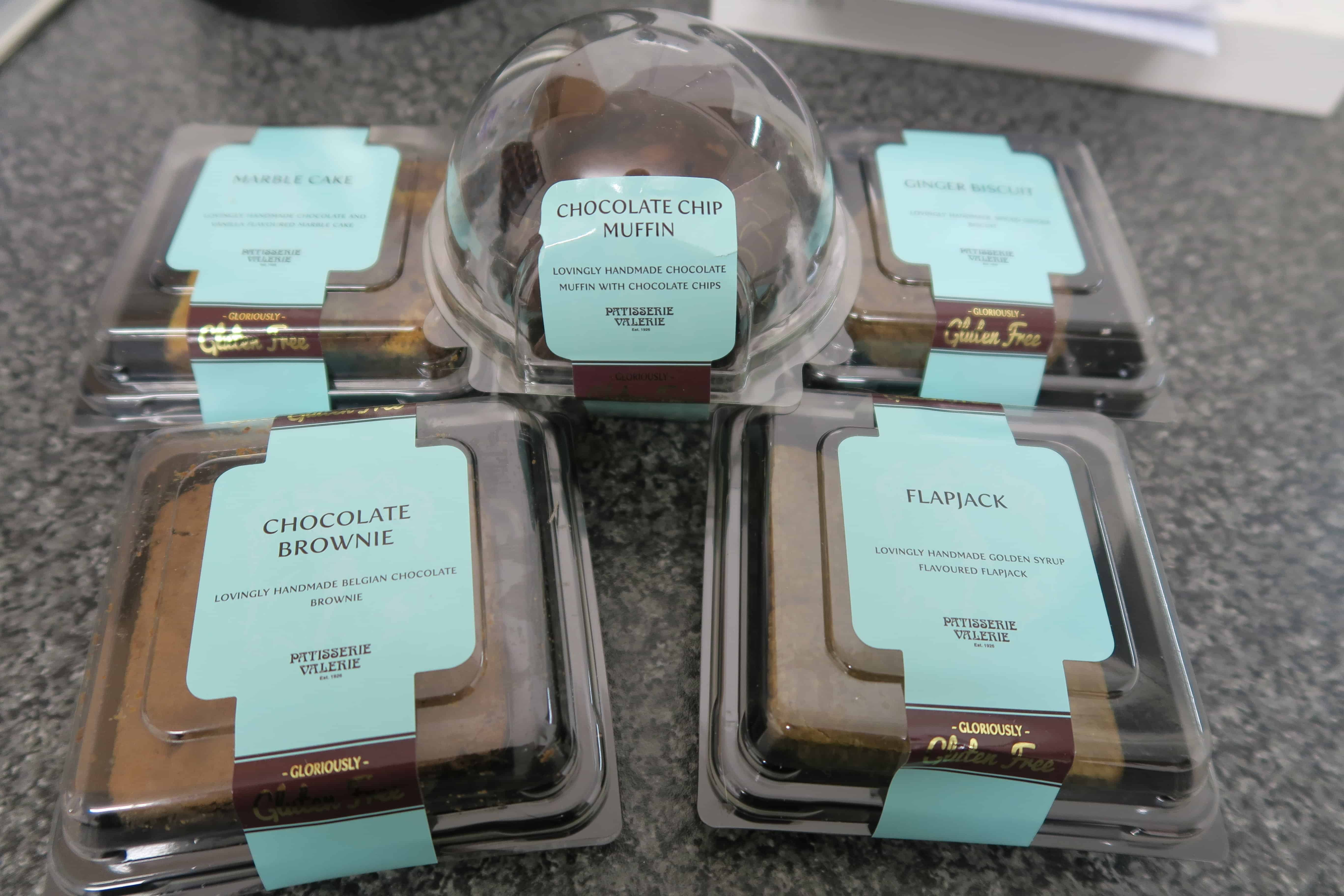 The range of gluten free Patisserie Valerie cakes!