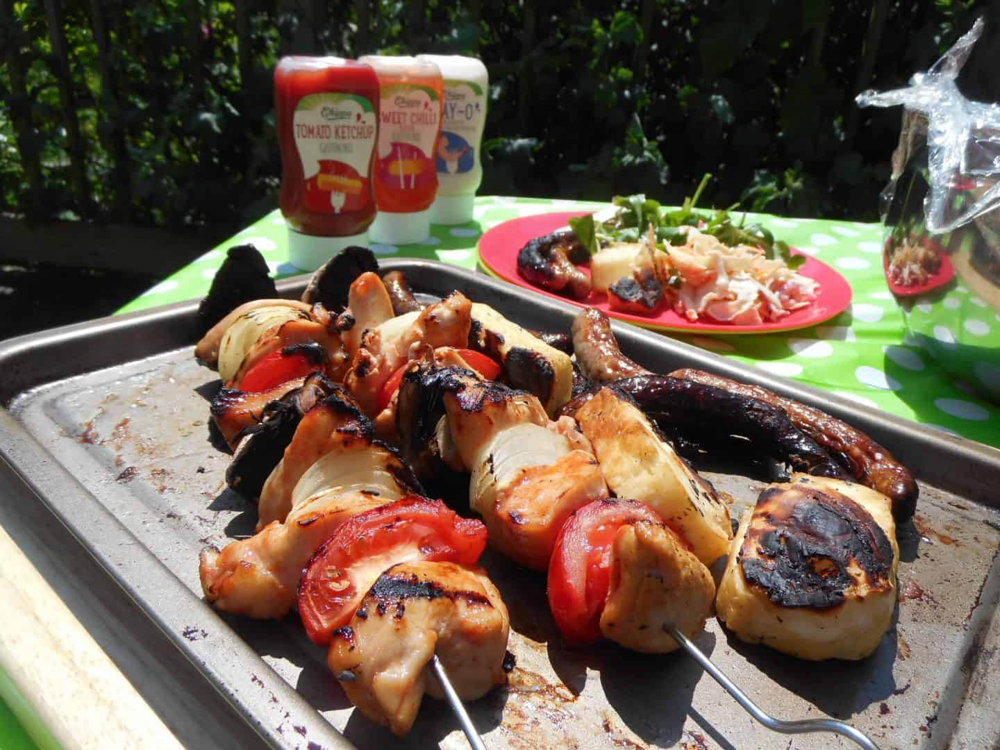 National Barbecue Week: The perfect gluten free chicken kebabs and free from coleslaw