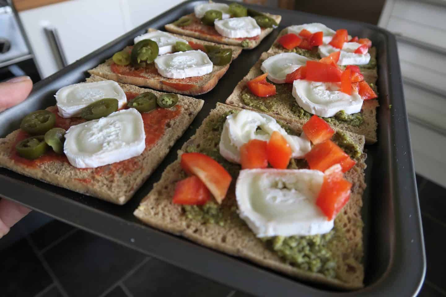 Gluten free mini pizzas with new recipe Newburn Bakehouse sandwich thins