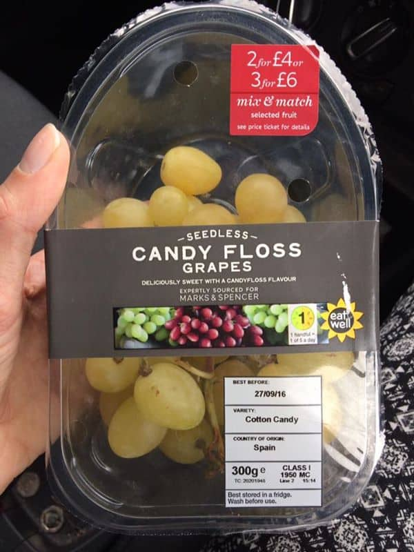 candyfloss grapes marks and spencer gluten free