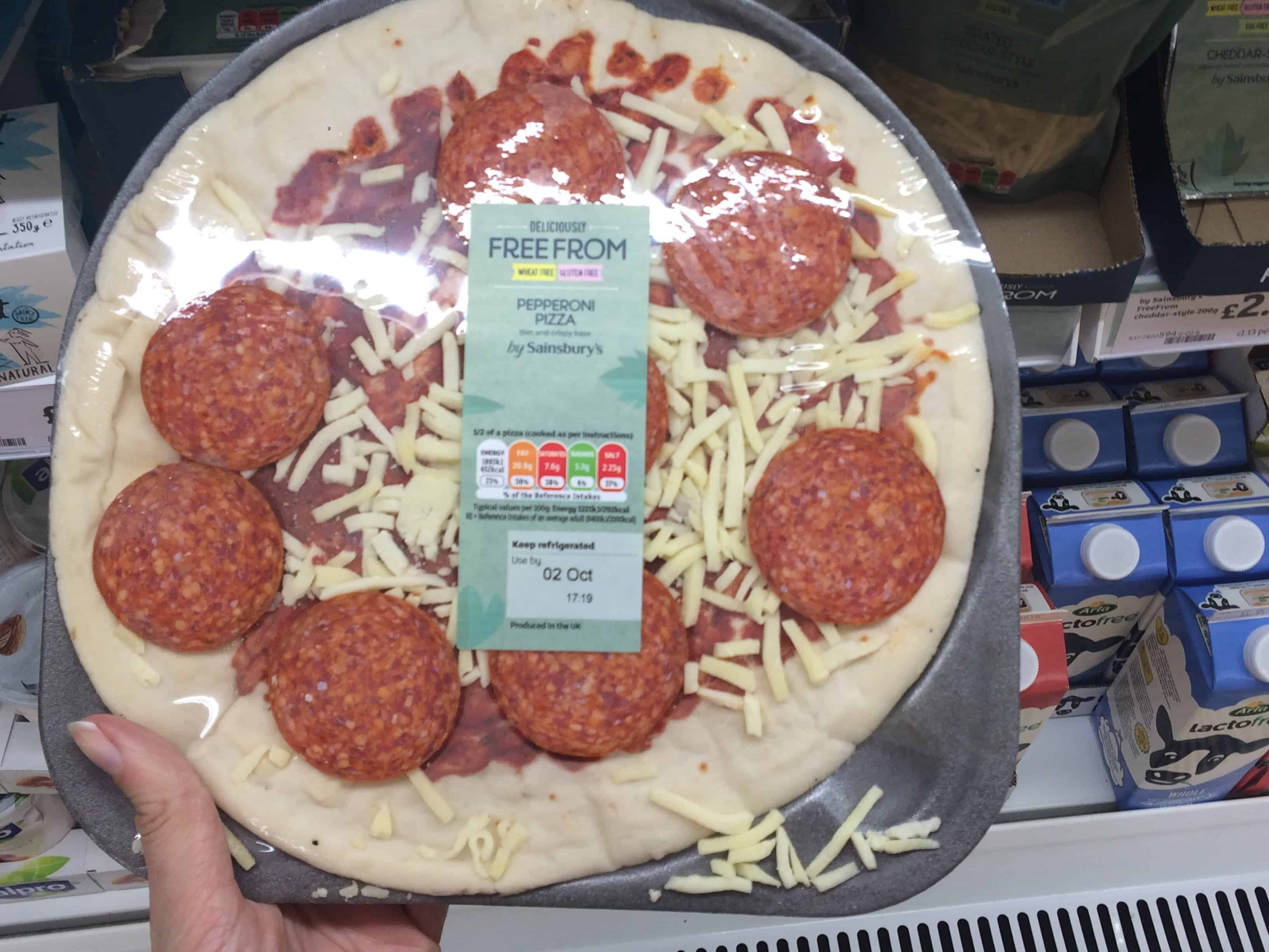 fresh gluten free wheat free pizza sainsburys