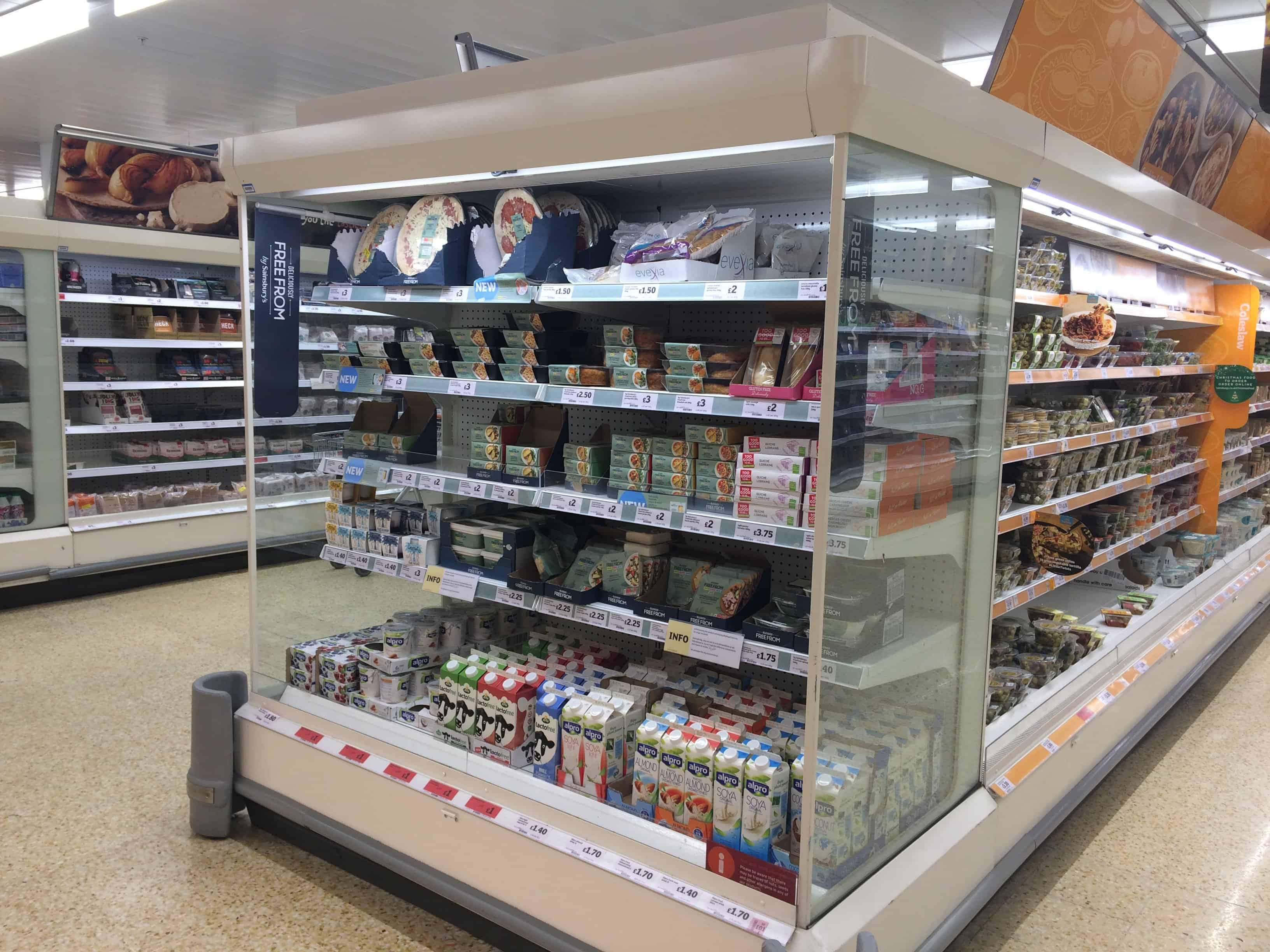 New Sainsburys Free From Pizzas Pies Dairy Free Cheeses