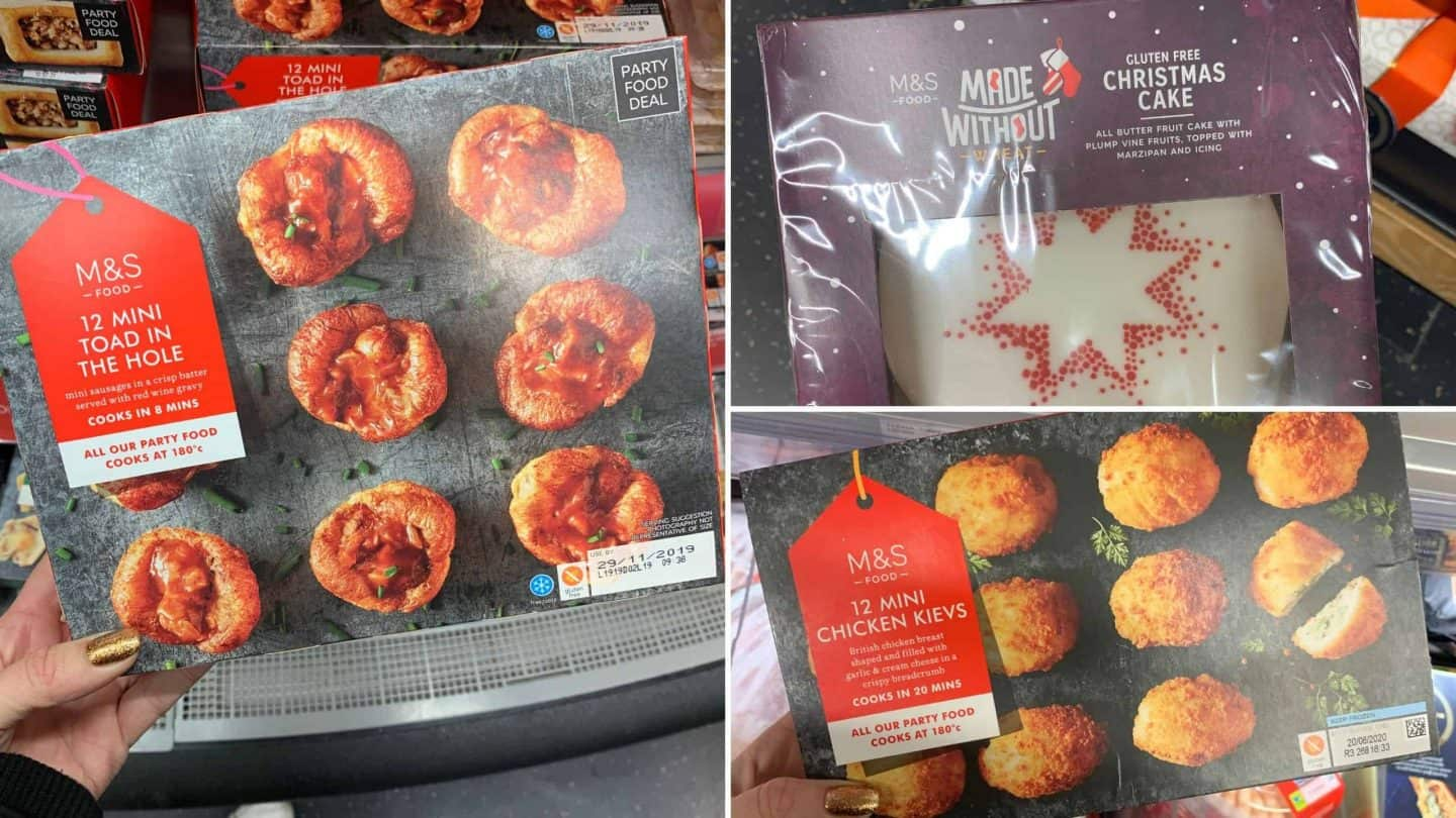 Gluten And Dairy Free Christmas Food In Marks And Spencer