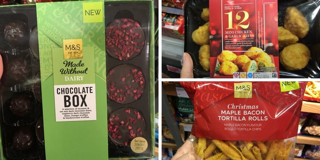 Free from Christmas: Gluten and dairy free Christmas food in Marks and Spencer