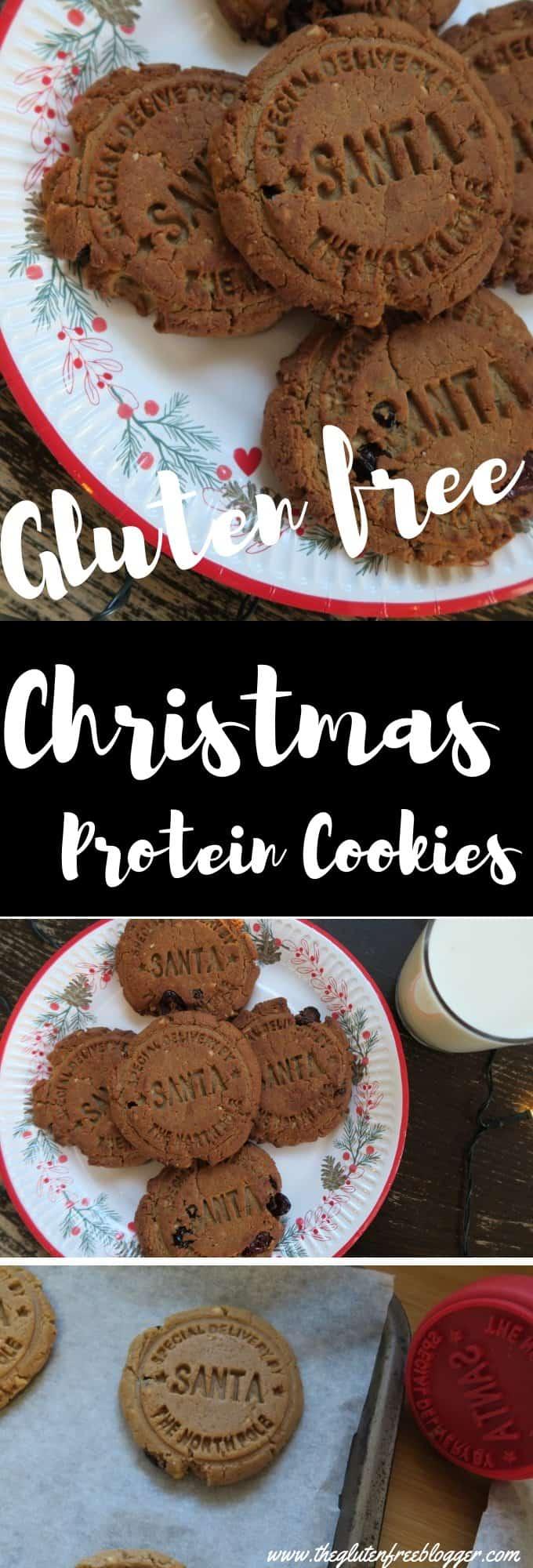 Gluten free protein cookies - Christmas cookies - high protein - protein treats - gluten free Christmas