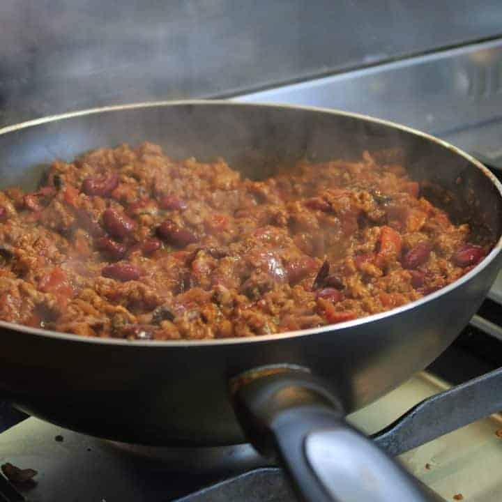 Gluten free lean and bean chilli con carne