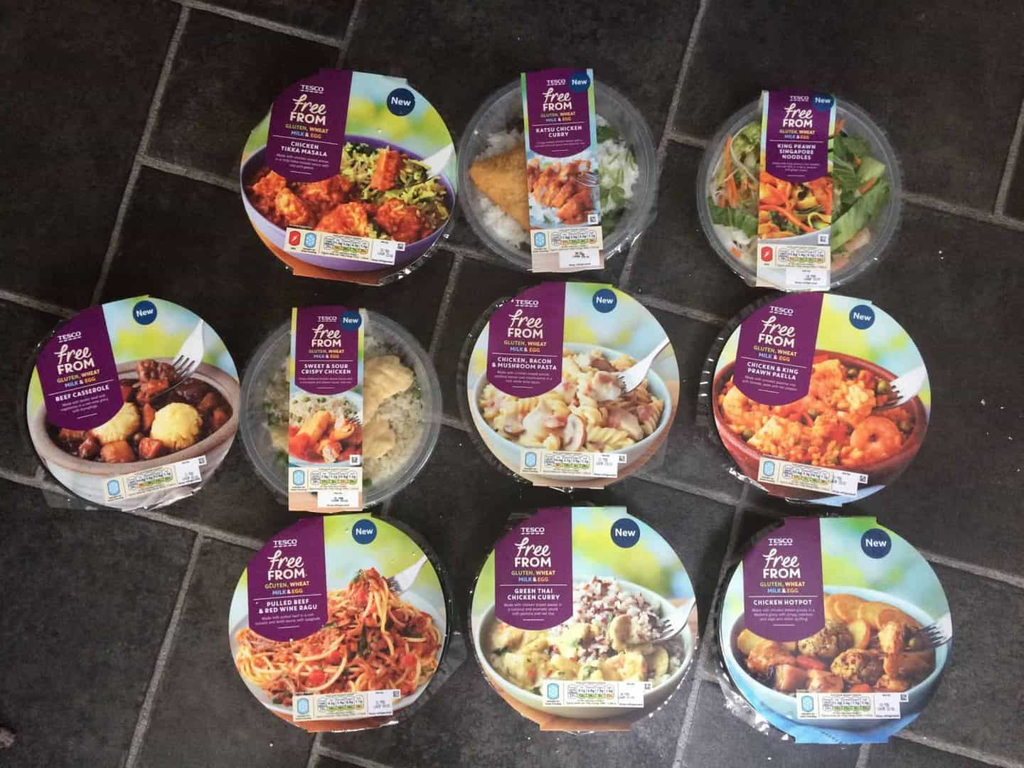 My thoughts on Tesco's gluten free, dairy free, egg free ready meals
