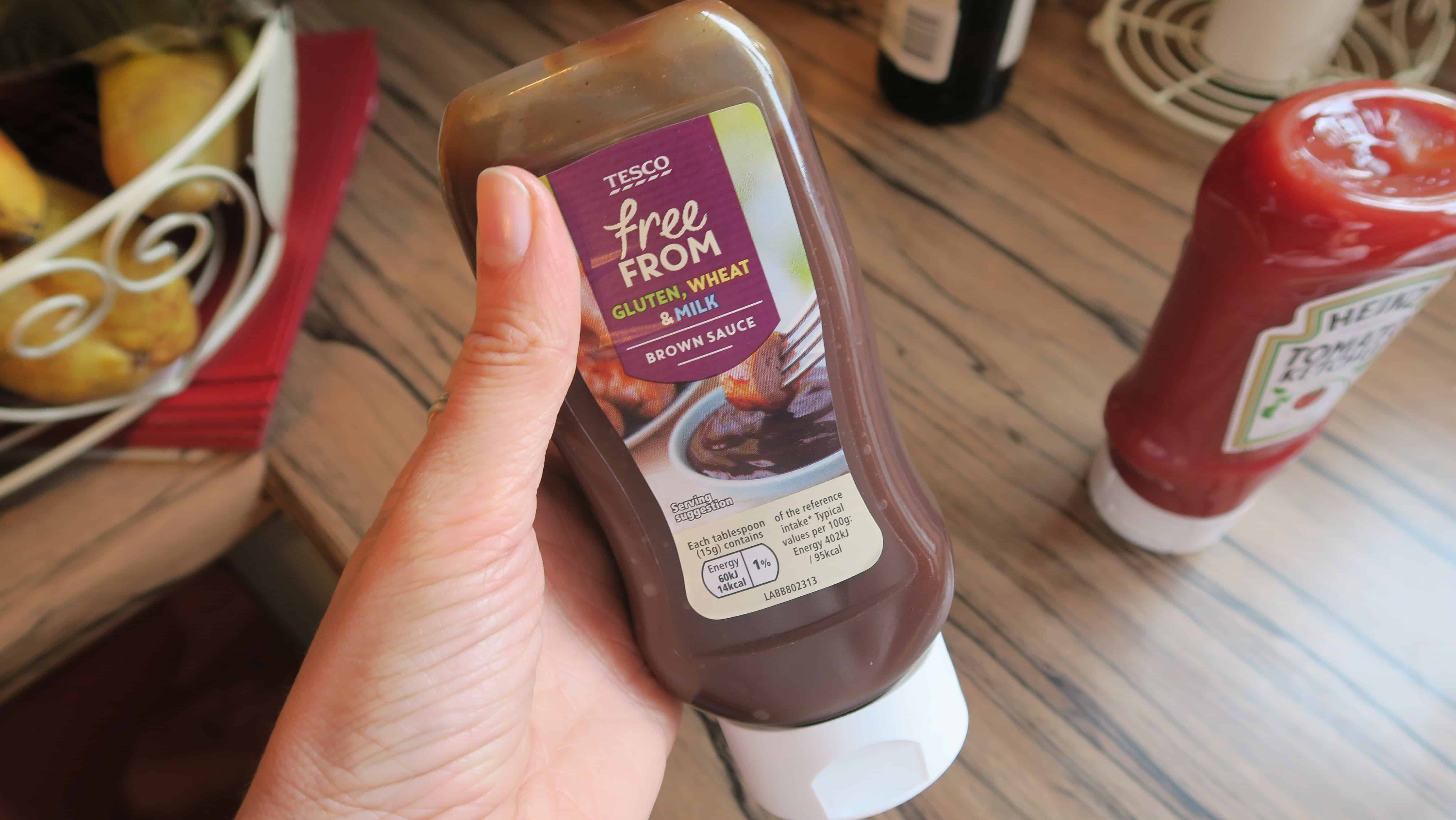 gluten free brown sauce Tesco