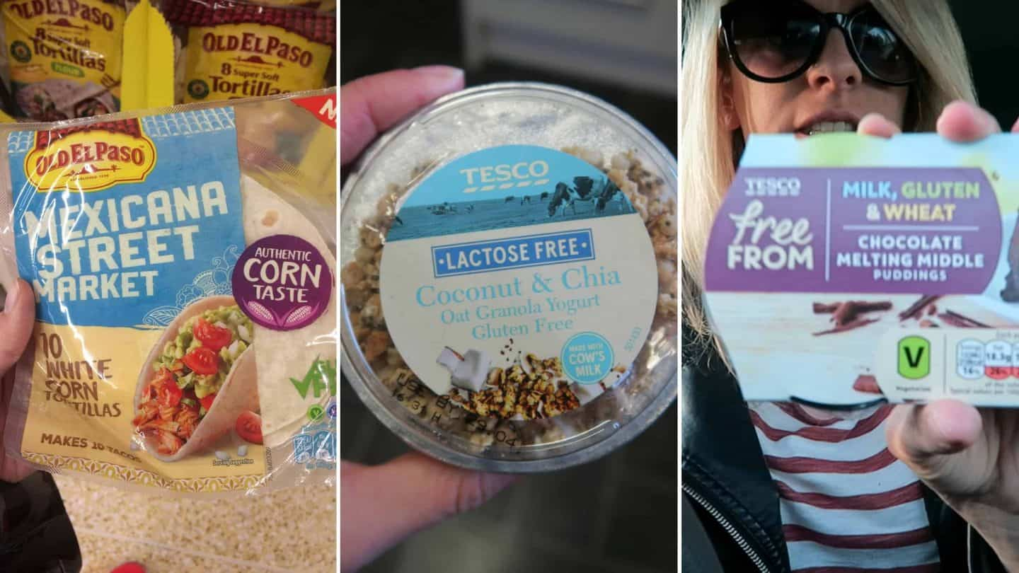 New discoveries: free from protein wraps, gluten free tortillas and lactose free yoghurts!