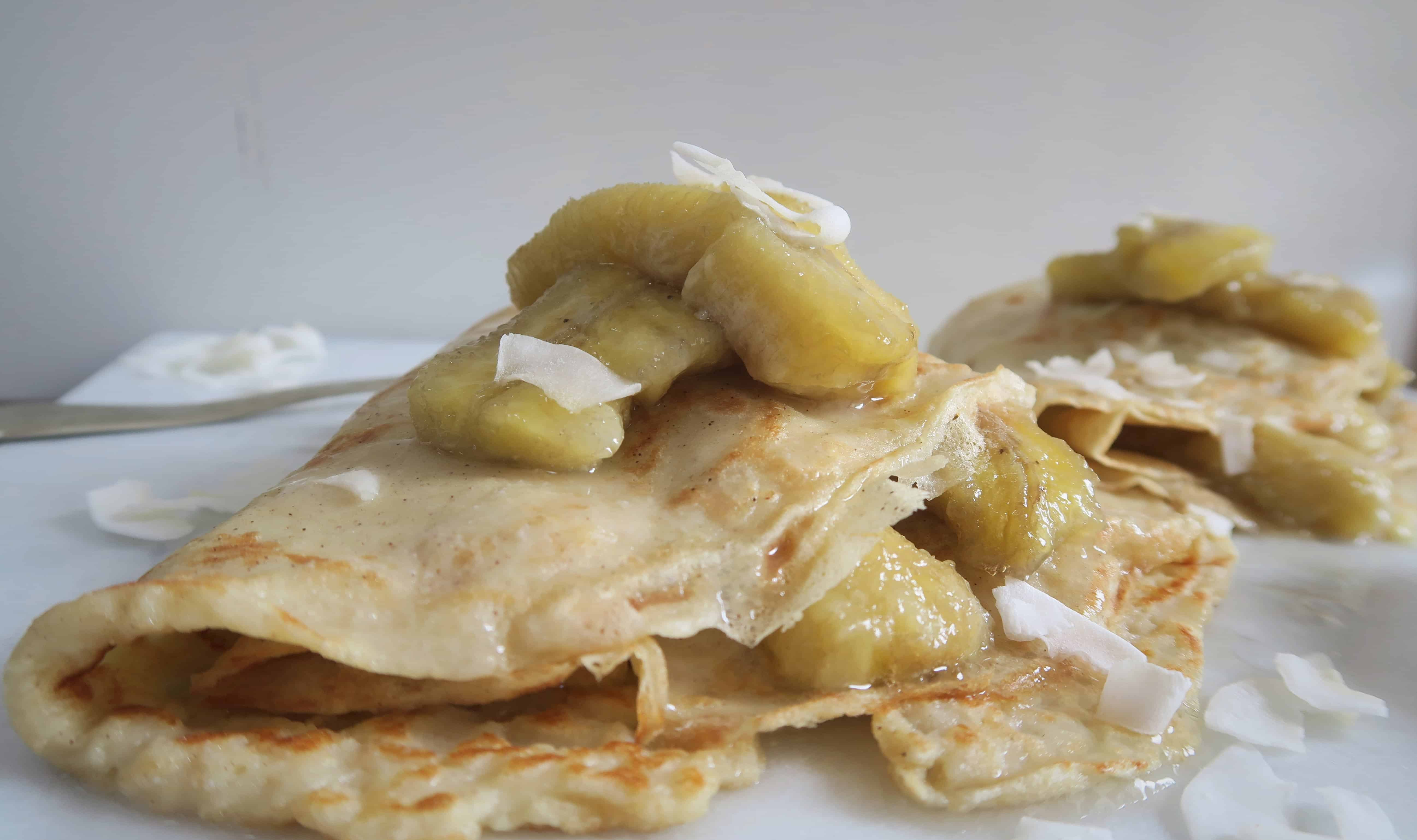 GLUTEN FREE DAIRY FREE BANANA COCONUT PANCAKES WITH VITACOCO
