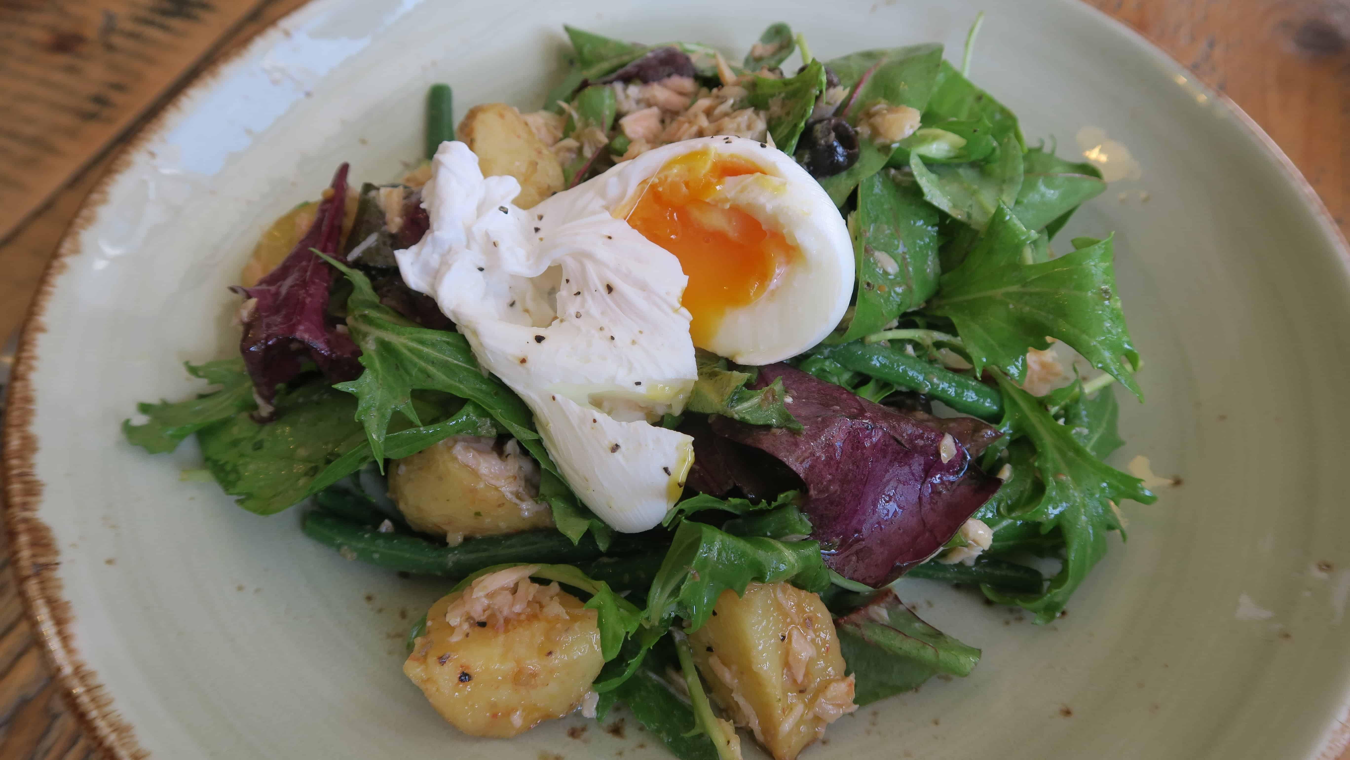 Gluten free salad at Boston Tea Party, Barnstaple