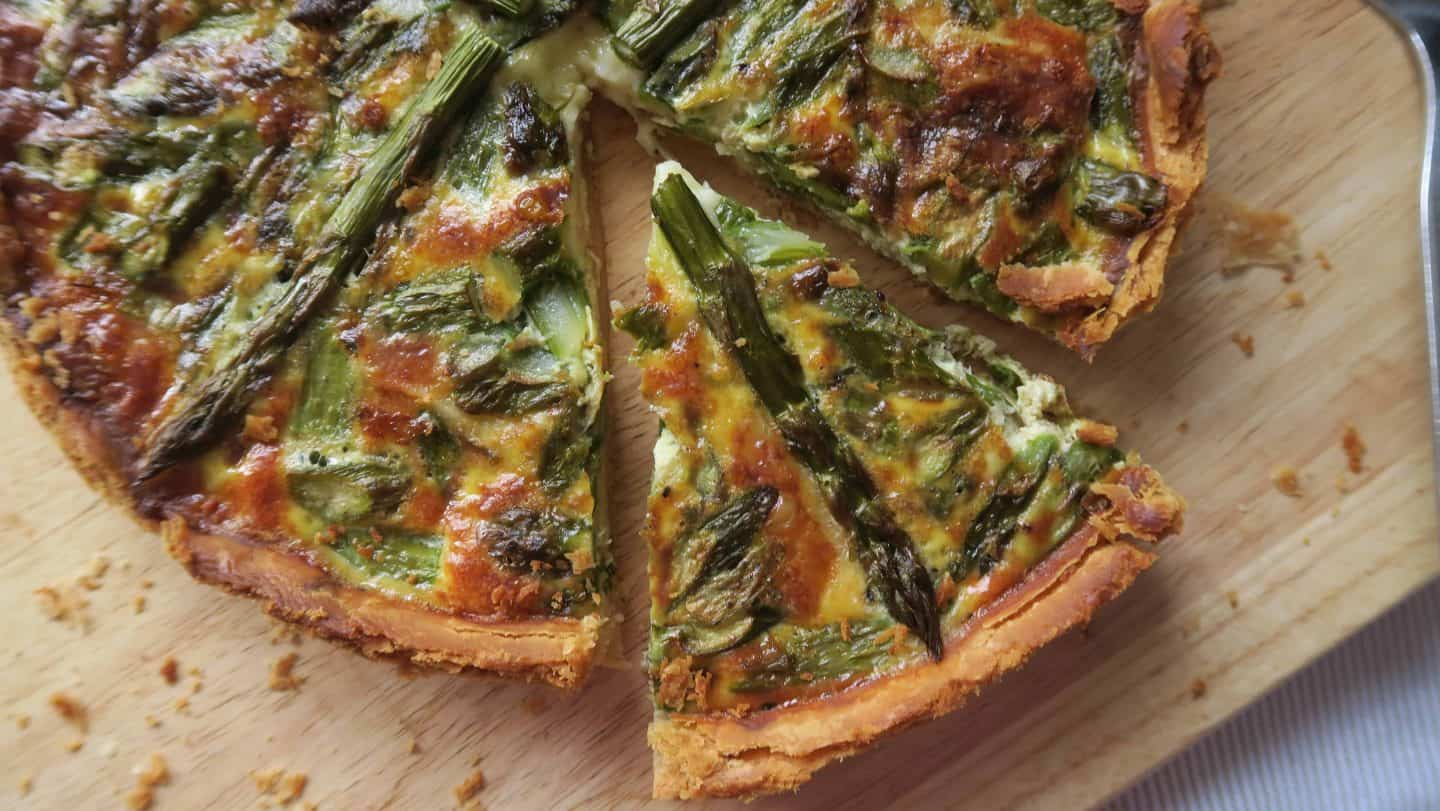 Gluten free quiche recipe: Summer brie and asparagus quiche is perfect gluten free picnic food