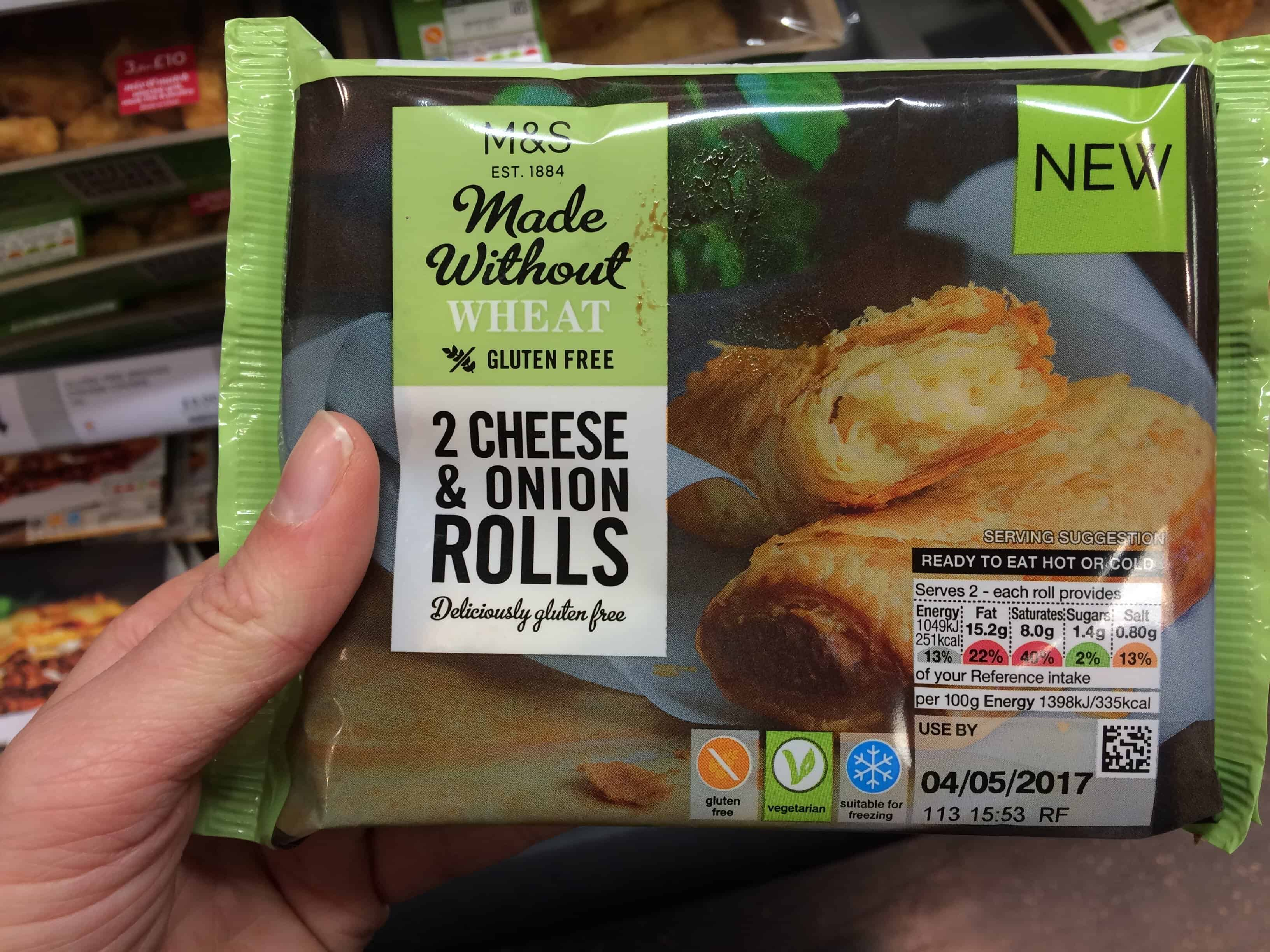 gluten free monthly favourites marks and spencer gluten free cheese and onion rolls
