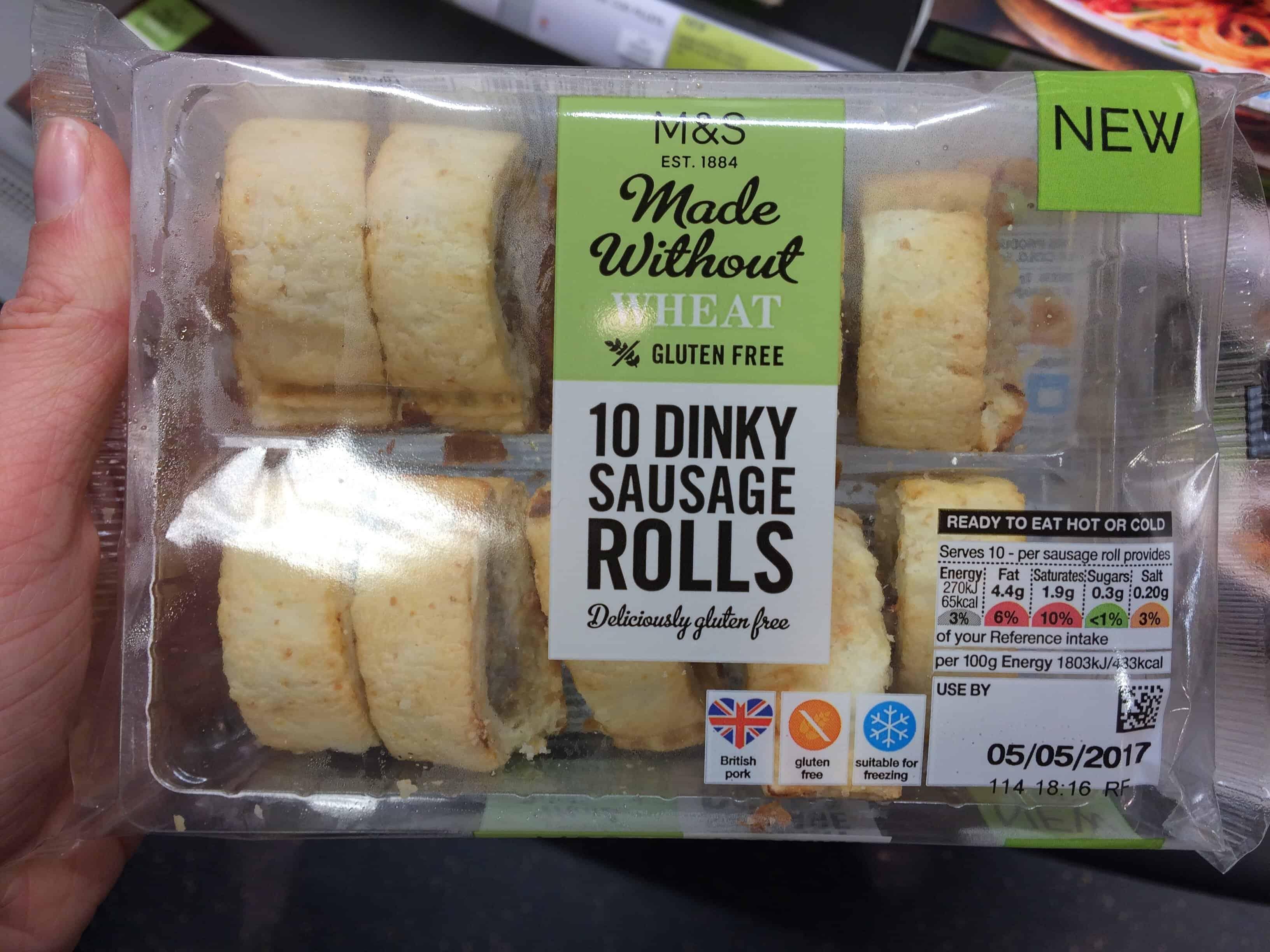 gluten free monthly favourites gluten free dinky sausage rolls