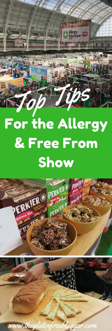 My top tips if you're visiting the Allergy and Free From Show and want to find some gluten free goodies - www.theglutenfreeblogger.com