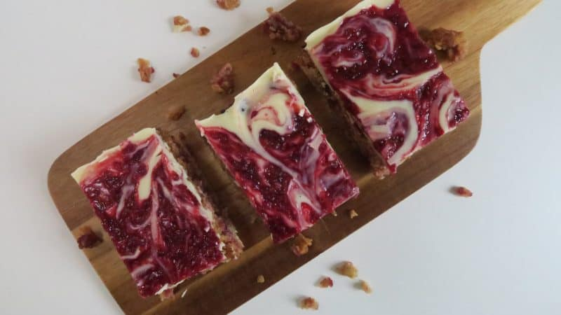 gluten free white chocolate and raspberry flapjack recipe 6