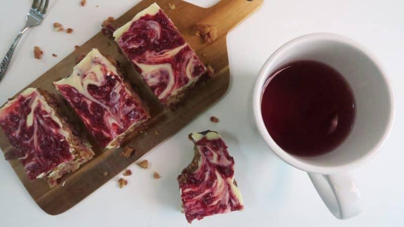 gluten free white choc raspberry flapjack recipe 2