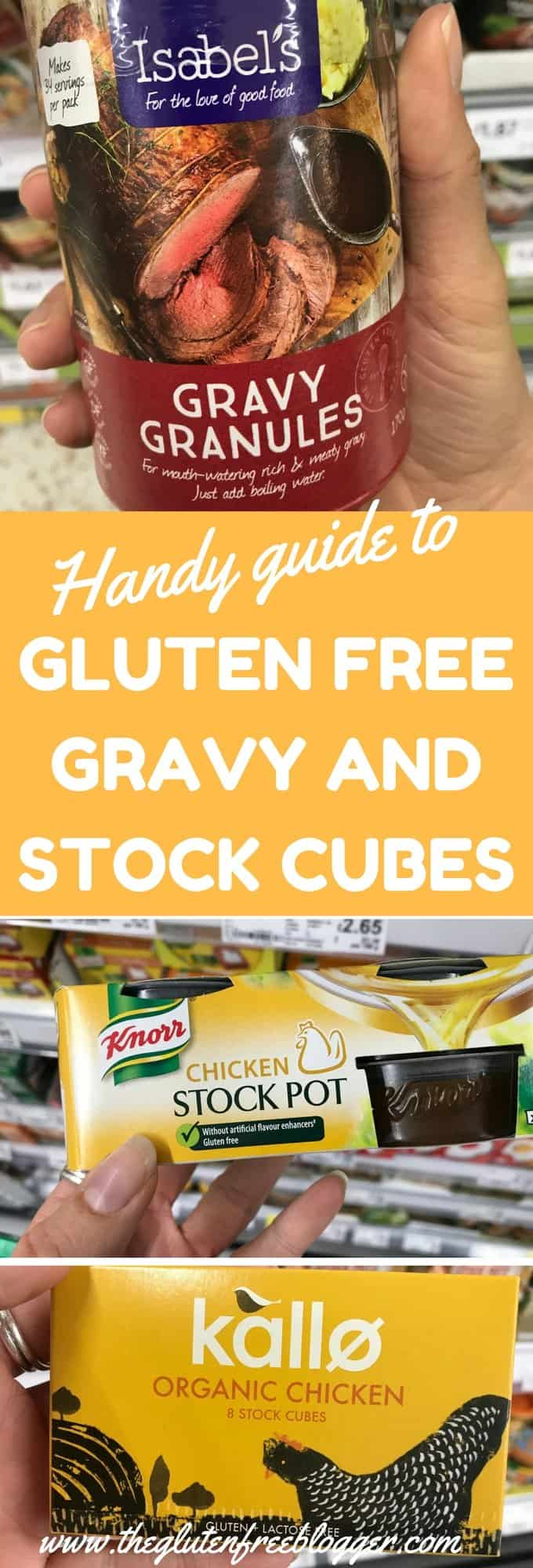 Guide to gluten free gravy and stock cubes and pots from The Gluten Free Blogger. www.theglutenfreeblogger.com