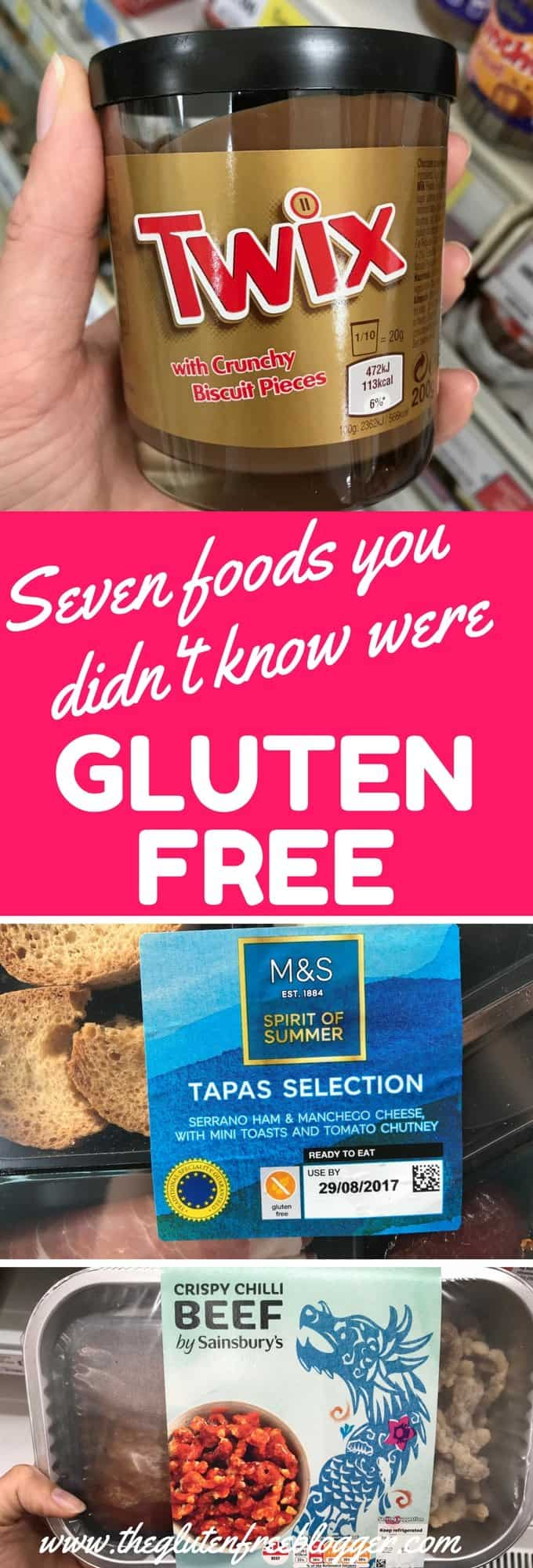 Seven foods you didn't know were gluten free in the UK by The Gluten Free Blogger - www.theglutenfreeblogger.com