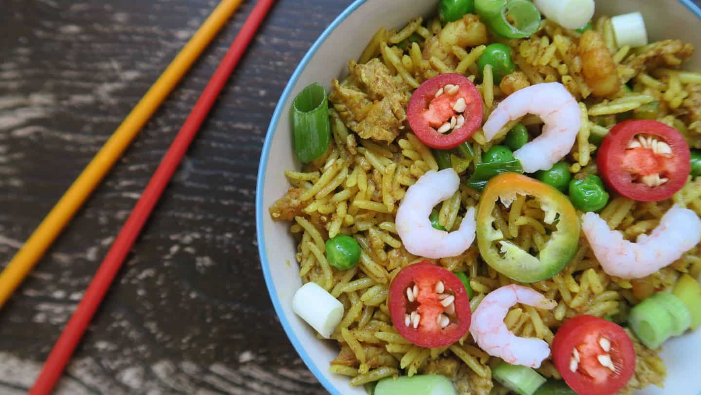 Gluten free Chinese 'fakeaway': Spicy Singapore fried rice recipe